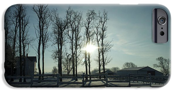Wintertime iPhone Cases - Winter Sunrise 01 iPhone Case by Thomas Woolworth