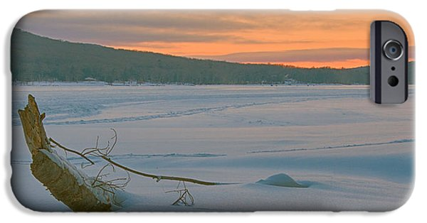 Deep River County Park iPhone Cases - Winter Sunrise iPhone Case by Neal Blizzard