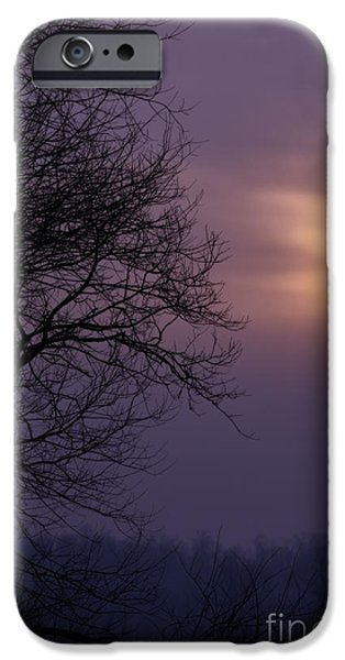 Colorful Cloud Formations iPhone Cases - Winter Sunrise iPhone Case by Thomas R Fletcher