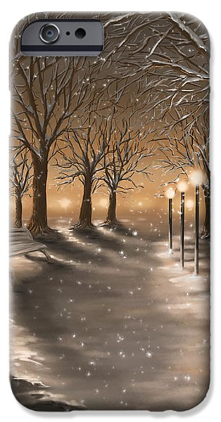 Winter Light iPhone Cases - Winter iPhone Case by Veronica Minozzi