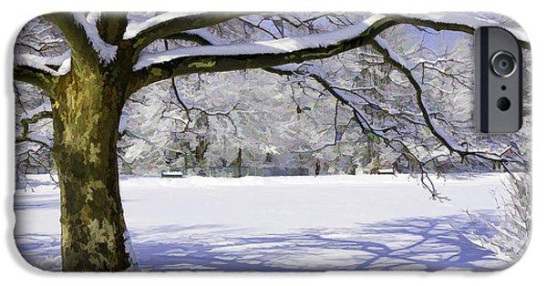 Snowy Day iPhone Cases - Winter Wonderland iPhone Case by Allen Beatty