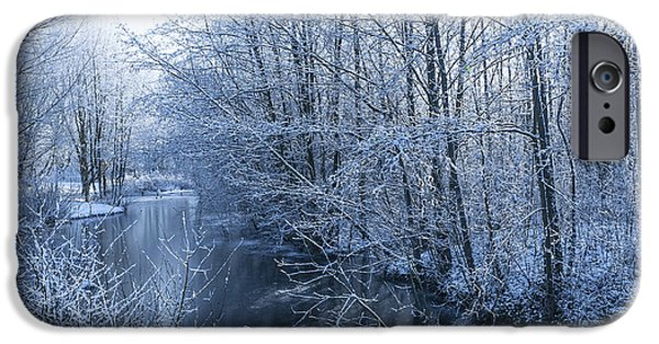 Snowy Stream iPhone Cases - Winter Wonderland iPhone Case by Svetlana Sewell