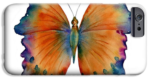 Moth iPhone Cases - 1 Wizard Butterfly iPhone Case by Amy Kirkpatrick
