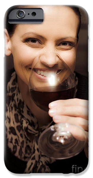 Wine Sipping iPhone Cases - Woman At Winery iPhone Case by Ryan Jorgensen