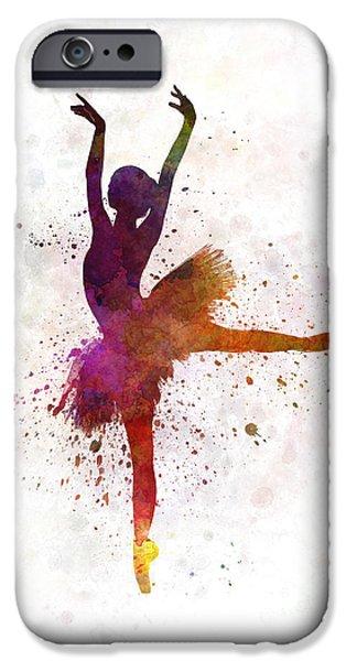 Ballet Dancers iPhone Cases - Woman ballerina ballet dancer dancing  iPhone Case by Pablo Romero