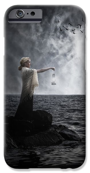 Young Photographs iPhone Cases - Woman With Lantern iPhone Case by Joana Kruse