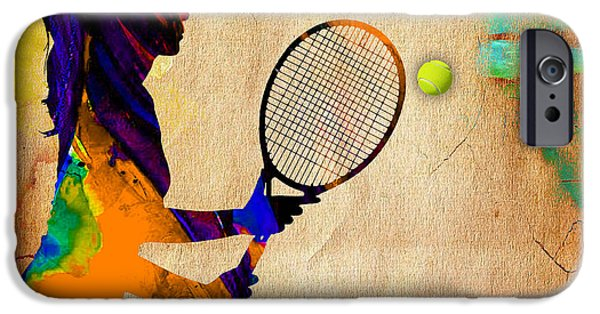 Tennis iPhone Cases - Womens Tennis iPhone Case by Marvin Blaine