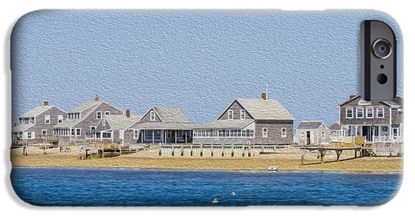 Chatham Digital Art iPhone Cases - Wooden houses on Cape Cod iPhone Case by Patricia Hofmeester