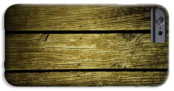 Flooring iPhone Cases - Wooden planks iPhone Case by Les Cunliffe