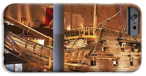 Reconstruction iPhone Cases - Wooden Ship Vasa In A Museum, Vasa iPhone Case by Panoramic Images