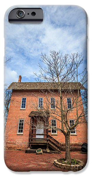 Grist Mill iPhone Cases - Woods Grist Mill in Deep River County Park iPhone Case by Paul Velgos
