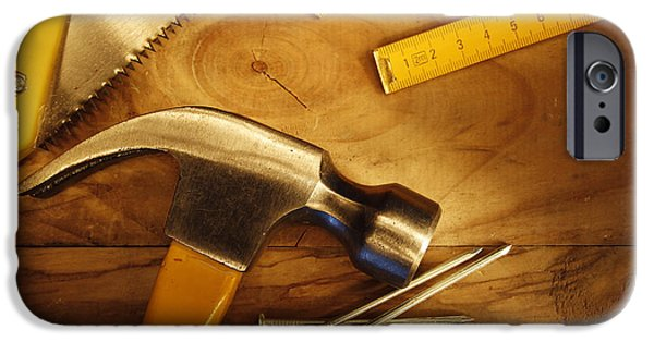 Work Tool Photographs iPhone Cases - Work tools iPhone Case by Les Cunliffe