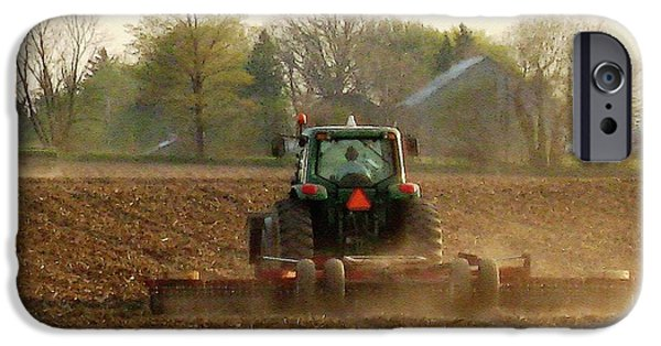 Machinery iPhone Cases - Working the Land in May iPhone Case by J McCombie