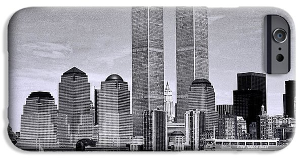 Twin Towers Nyc iPhone Cases - World Trade Center 3 iPhone Case by Allen Beatty
