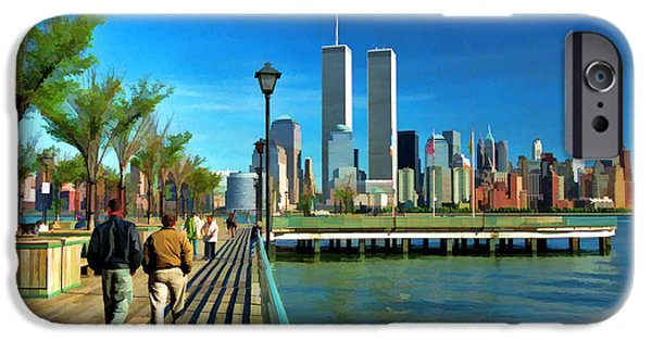 Twin Towers Nyc iPhone Cases - World Trade Center 5 iPhone Case by Allen Beatty