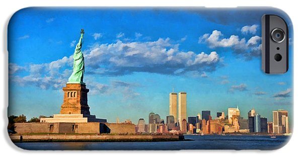 Twin Towers Nyc iPhone Cases - World Trade Center 6 iPhone Case by Allen Beatty