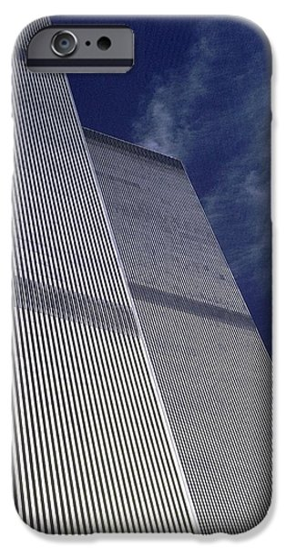 Twin Towers Nyc iPhone Cases - World Trade Center 2 iPhone Case by Allen Beatty