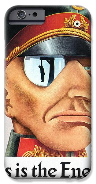 Caricature Posters iPhone Cases - World War Ii Poster, 1942 iPhone Case by Granger