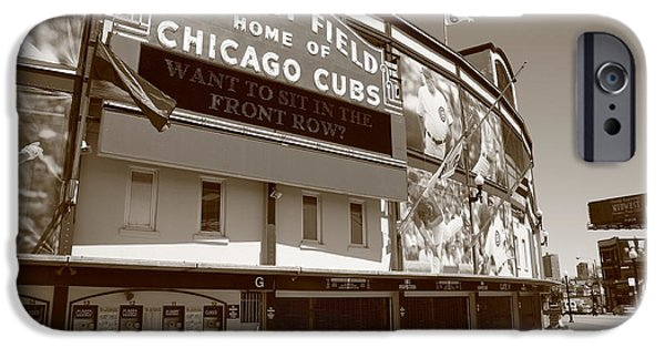 Chicago Cubs iPhone Cases - Wrigley Field - Chicago Cubs iPhone Case by Frank Romeo