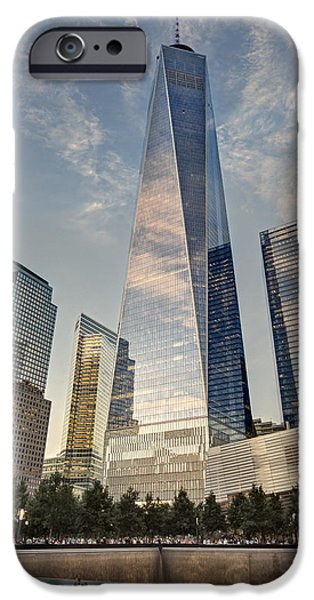 Freedom iPhone Cases - WTC 911 Ground Zero iPhone Case by Susan Candelario