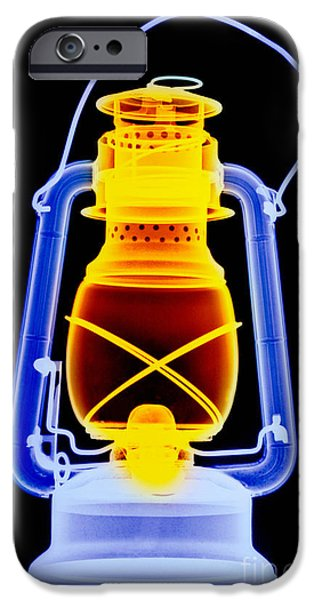 Oil Lamp Photographs iPhone Cases - X-ray Of A Kerosene Lantern iPhone Case by Scott Camazine