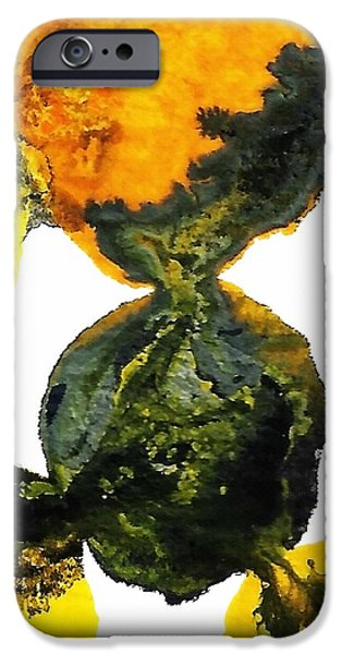 Abstract Forms Mixed Media iPhone Cases - Yellow and Gray Interactions 8 iPhone Case by Amy Vangsgard