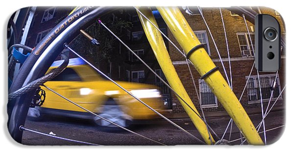 Hudson River iPhone Cases - Yellow Spokes iPhone Case by Steven Lapkin