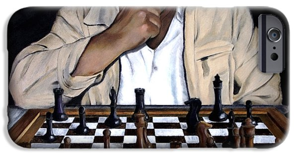 Chess Players iPhone Cases - Your Move iPhone Case by Andrew Wells
