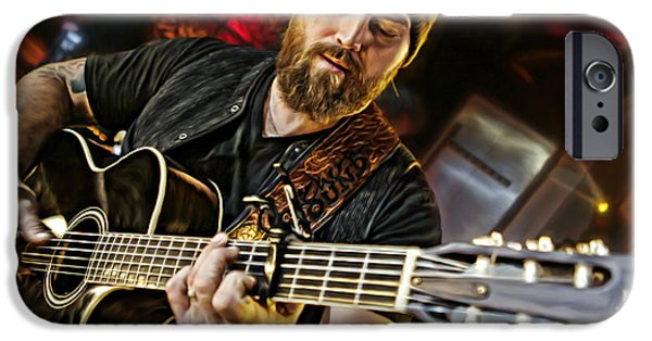 Epiphone Guitar iPhone Cases - Zac Brown iPhone Case by Don Olea