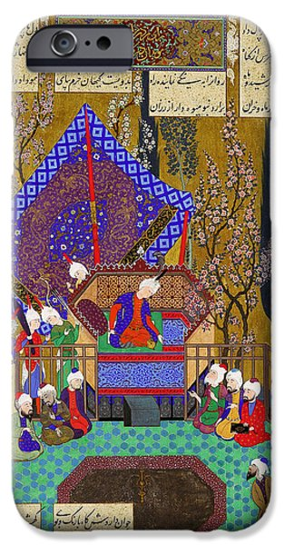 Consult iPhone Cases - Zal Consults the Magi Folio from the Shahnama iPhone Case by Abul Qasim Firdausi