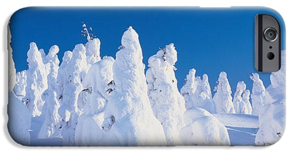 Snowy Day iPhone Cases - Zao Yamagata Japan iPhone Case by Panoramic Images