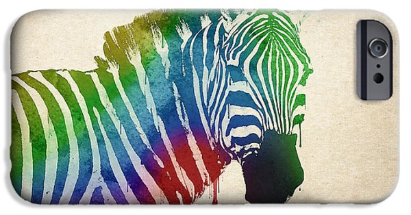 Zebra iPhone Cases - Zebra iPhone Case by Aged Pixel
