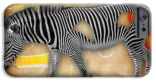 Zebras iPhone Cases - Zebra Collection iPhone Case by Marvin Blaine