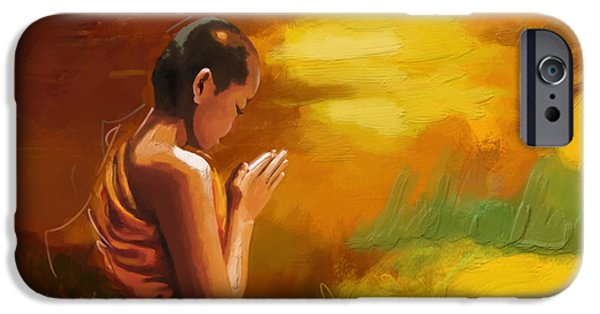 Buddhism Paintings iPhone Cases - Zen iPhone Case by Corporate Art Task Force