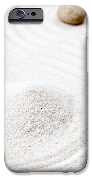 Line Sculptures iPhone Cases - Zen garden iPhone Case by Shawn Hempel