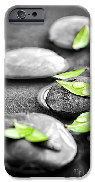 Macro iPhone Cases - Zen stones iPhone Case by Elena Elisseeva