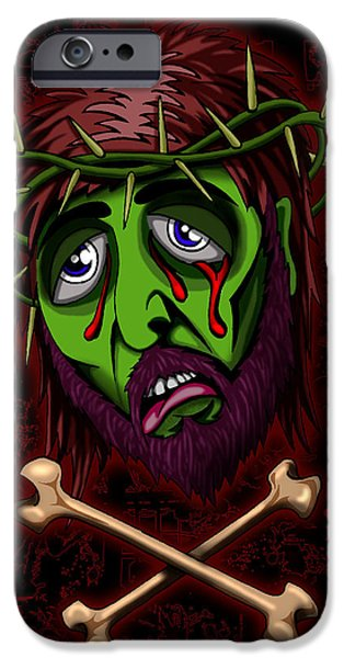Turin Digital Art iPhone Cases - Zombie Superstar iPhone Case by Steve Hartwell