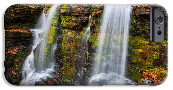 Red Rock iPhone Cases -  Waterfalls George W Childs National Park Painted  iPhone Case by Rich Franco