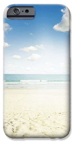Scenic Photo Photographs iPhone Cases - Beach iPhone Case by Les Cunliffe
