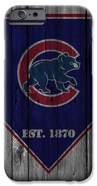Baseball Field iPhone Cases - Chicago Cubs iPhone Case by Joe Hamilton
