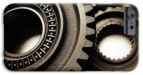 Machinery iPhone Cases - Cogs iPhone Case by Les Cunliffe