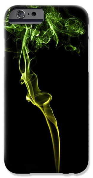 Smoke iPhone Cases - Colourful Smoke iPhone Case by Samuel Whitton