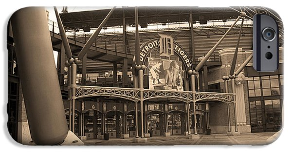 Detroit Tigers Baseball Art iPhone Cases - Comerica Park - Detroit Tigers iPhone Case by Frank Romeo