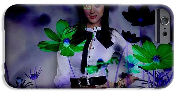 Katy Perry iPhone Cases - Katy Perry iPhone Case by Marvin Blaine
