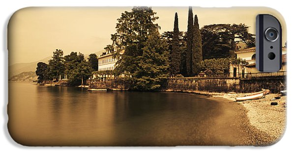 Lago Di Como iPhone Cases - Lago di Como iPhone Case by Roberto Adrian