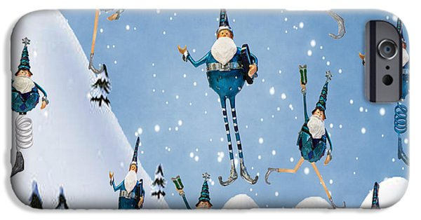 St Nicholas iPhone Cases - 10 Lords A Leaping iPhone Case by Juli Scalzi