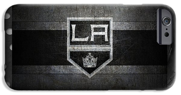 Santa iPhone Cases - Los Angeles Kings iPhone Case by Joe Hamilton
