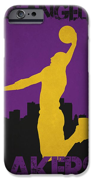 Bryant Photographs iPhone Cases - Los Angeles Lakers iPhone Case by Joe Hamilton