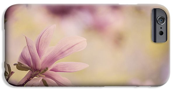 Blossom iPhone Cases - Magnolia Flowers iPhone Case by Nailia Schwarz