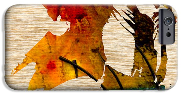 Michael Mixed Media iPhone Cases - Michael Jackson iPhone Case by Marvin Blaine